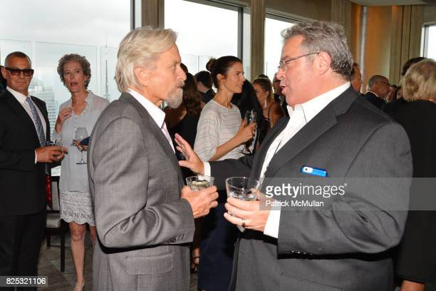 Michael Douglas and Drew Nieporent attend Magrino PR 25th Anniversary at Bar SixtyFive at Rainbow Room on July 25 2017 in New York City