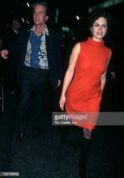 Michael Douglas and Elizabeth Vargas during Kate Moss and Naomi Campbell Host a Halloween Party October 31 1997 at The Supper Club in New York City...