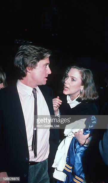 Michael Douglas and Kathleen Turner during Michael Douglas and Kathleen Turner Sighted at Eugene O'Neill Theater April 1 1984 at Eugene O'Neill...