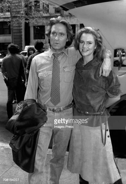 Michael Douglas and Kathleen Turner promoting 'Romancing The Stone' New York City circa 1983