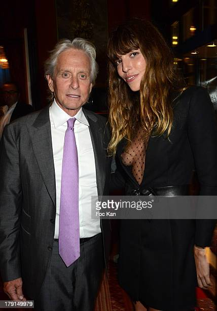Michael Douglas and Lou Doillon attend the 39th Deauville American Film Festival Opening Party at the Casino Lucien Barriere on August 30 2013 in...