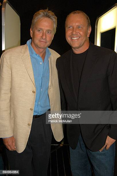 Michael Douglas and Michael Kors attend Michael Kors Spring 2006 Collection at The Tent at Bryant Park on September 13 2005 in New York City