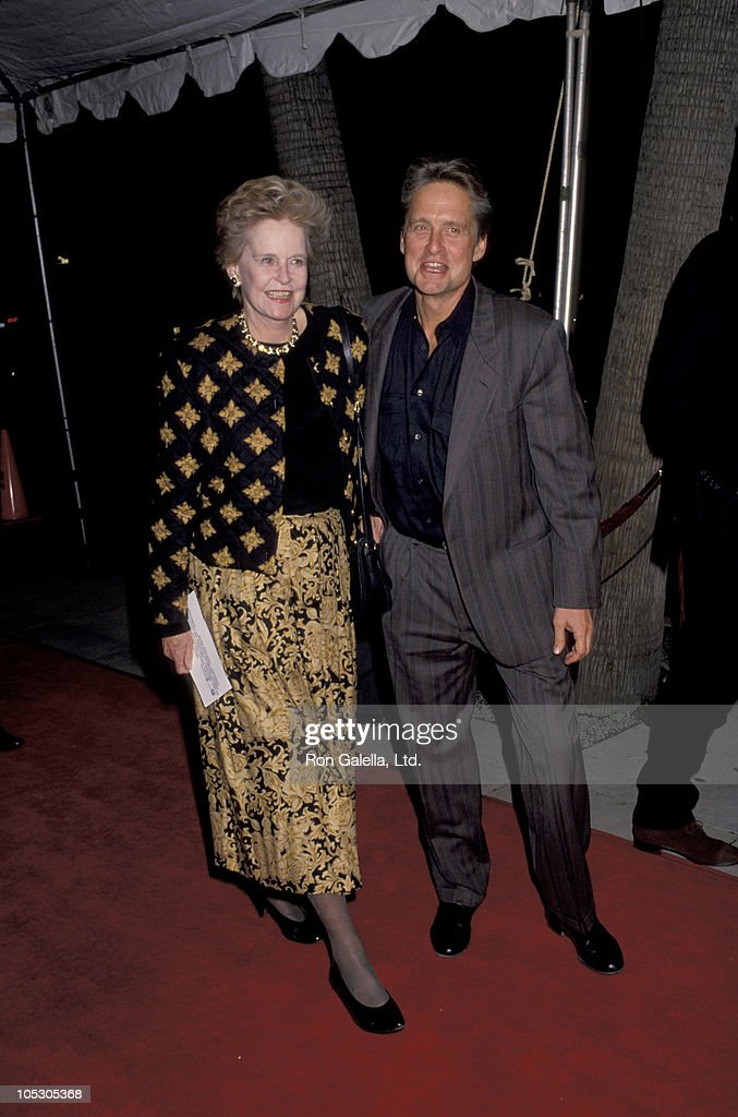 <a gi-track='captionPersonalityLinkClicked' href=/galleries/search?phrase=Michael+Douglas&family=editorial&specificpeople=171111 ng-click='$event.stopPropagation()'>Michael Douglas</a> and Mother during Los Angeles Premiere of 'Hoffa' to Benefit Tripod Hoffa at Academy Theatre in Beverly Hills, California, United States.