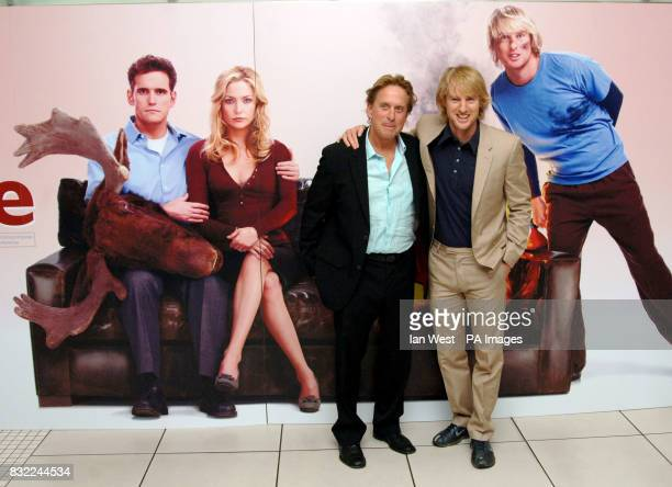 Michael Douglas and Owen Wilson arriving for the UK Premiere of You Me Dupree at the Odeon Leicester Square central London Picture date Tuesday 22...