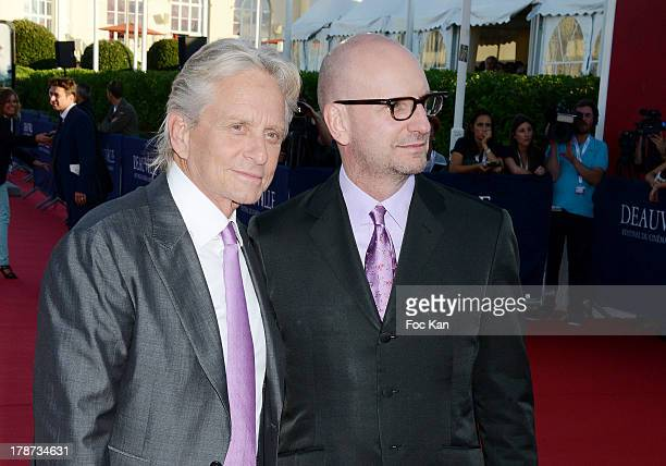 Michael Douglas and Steven Soderbergh attend the 39th Deauville American Film Festival Opening Ceremony at the CID on August 30 2013 in Deauville...