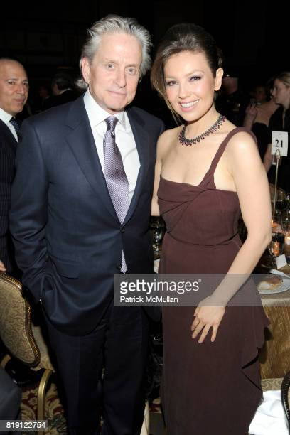 Michael Douglas and Thalia Mottola attend NEW YORK CITY POLICE FOUNDATION 32nd Annual Gala at Waldorf=Astoria on March 16 2010 in New York City