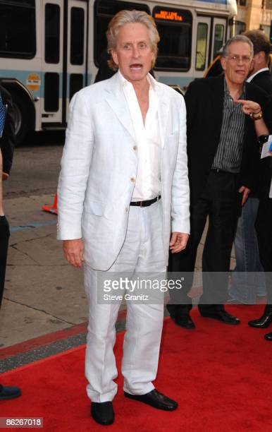 Michael Douglas arrives at the Los Angeles premiere of 'Ghosts Of Girlfriends Past' at the Grauman's Chinese Theatre on April 27 2009 in Hollywood...