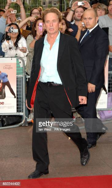Michael Douglas arriving for the UK Premiere of You Me Dupree at the Odeon Leicester Square central London Picture date Tuesday 22 August 2006 See PA...
