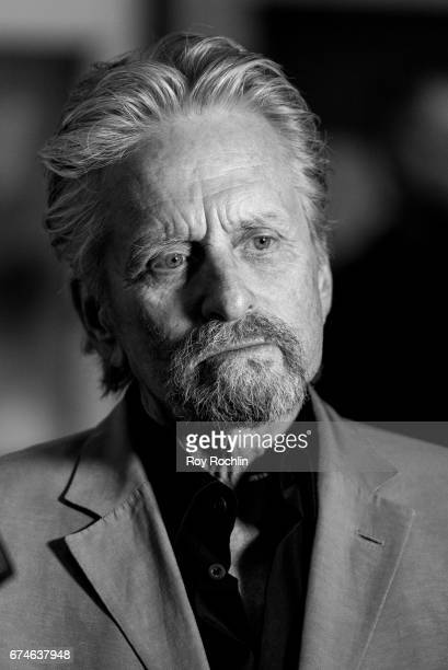Michael Douglas attend Sherry Lansing In Conversation With Michael Douglas Stephen Galloway at 92nd Street Y on April 28 2017 in New York City