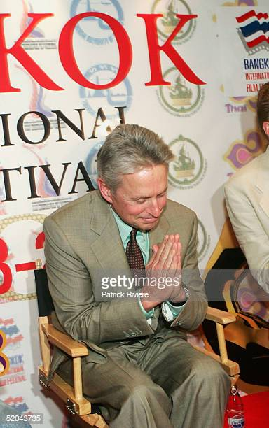 Michael Douglas attends a press conference at the ShangriLa Hotel to talk about 'Phantom of the Opera' presented at the Bangkok International Film...