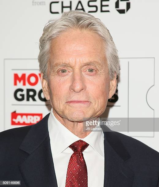 Michael Douglas attends AARP's Movie For GrownUps Awards at the Beverly Wilshire Four Seasons Hotel on February 8 2016 in Beverly Hills California