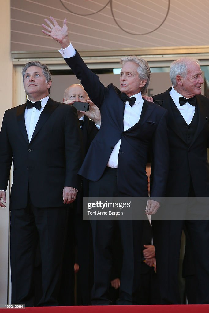 <a gi-track='captionPersonalityLinkClicked' href=/galleries/search?phrase=Michael+Douglas&family=editorial&specificpeople=171111 ng-click='$event.stopPropagation()'>Michael Douglas</a> attends 'Behind The Candelabra' Premiere during The 66th Annual Cannes Film Festival on May 21, 2013 in Cannes, France.