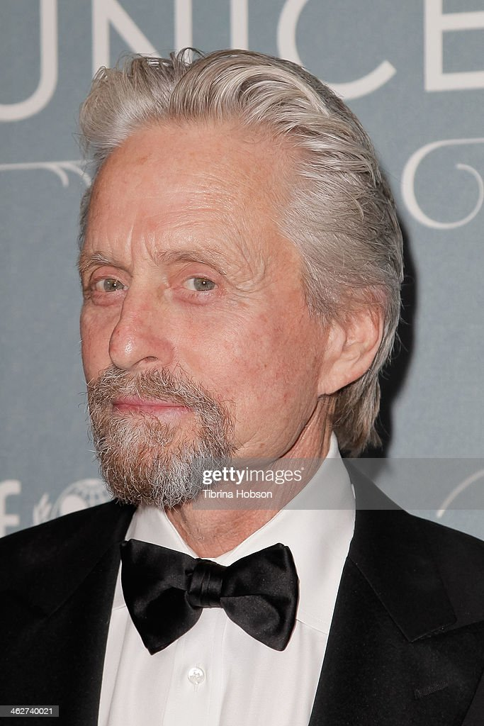<a gi-track='captionPersonalityLinkClicked' href=/galleries/search?phrase=Michael+Douglas&family=editorial&specificpeople=171111 ng-click='$event.stopPropagation()'>Michael Douglas</a> attends the 2014 UNICEF ball presented by Baccarat at Regent Beverly Wilshire Hotel on January 14, 2014 in Beverly Hills, California.