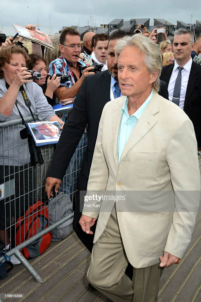 Michael Douglas attends the 'Behind the Candelabra' photocall during The 39th Deauville Film Festival at the Planches CID on August 31 2013 in...