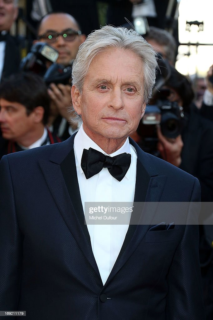 <a gi-track='captionPersonalityLinkClicked' href=/galleries/search?phrase=Michael+Douglas&family=editorial&specificpeople=171111 ng-click='$event.stopPropagation()'>Michael Douglas</a> attends the 'Behind The Candelabra' premiere during The 66th Annual Cannes Film Festival at Theatre Lumiere on May 21, 2013 in Cannes, France.