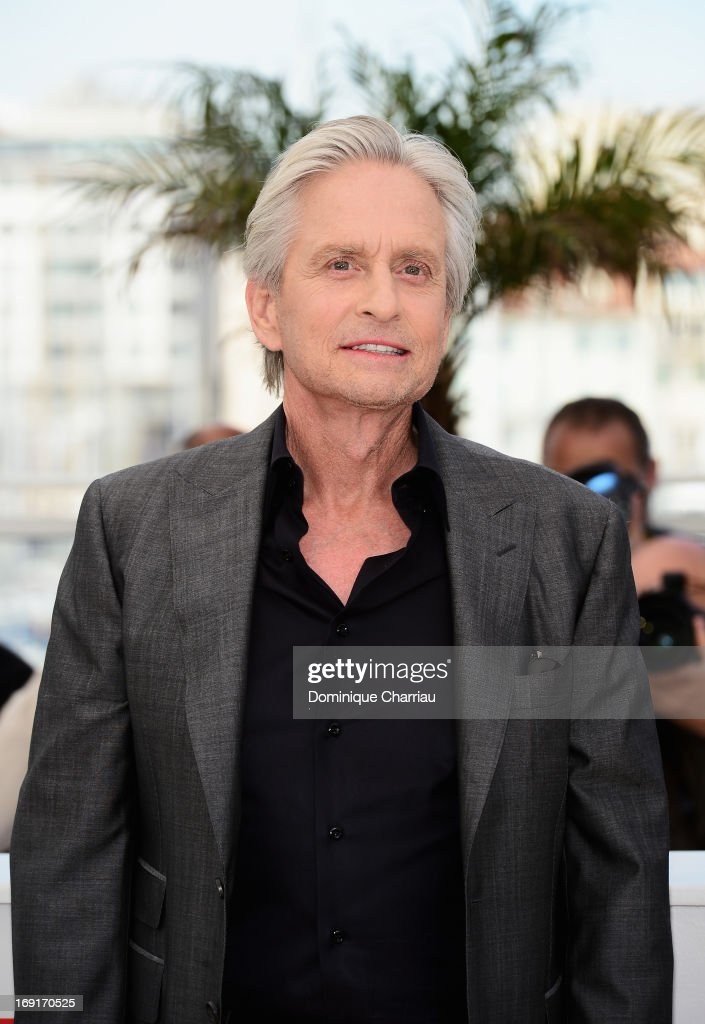 Michael Douglas attends the photocall for 'Behind the Candelabra' during the 66th Annual Cannes Film Festival at Palais des Festivals on May 21 2013...