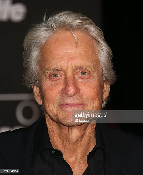 Michael Douglas attends the Premiere of Walt Disney Pictures and Lucasfilm's 'Rogue One A Star Wars Story' on December 10 2016 in Hollywood California