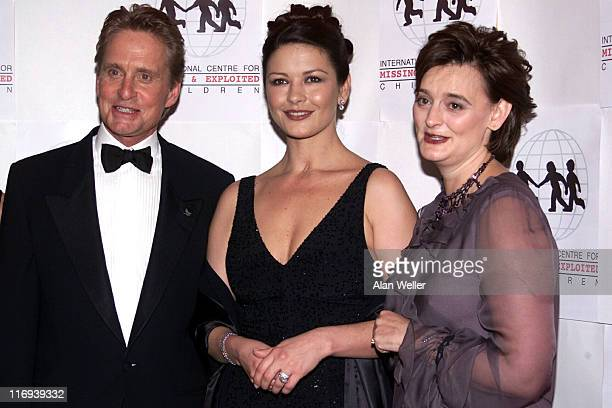Michael Douglas Catherine Zeta Jones and Cherie Blair