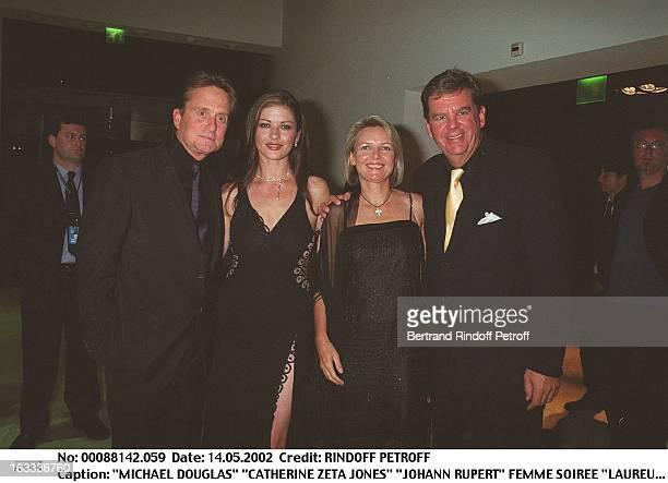 Michael Douglas 'Catherine Zeta Jones' 'Johann Rupert' wife 'Laureus World Sports Awards' party in Monaco
