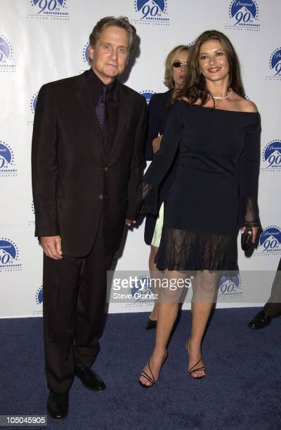 Michael Douglas Catherine ZetaJones during Paramount Pictures Celebrates 90th Anniversary With 90 Stars for 90 Years at Paramount Pictures in Los...