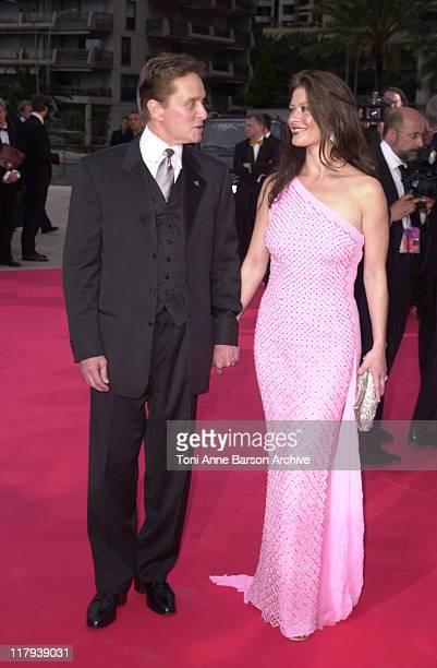 Michael Douglas Catherine ZetaJones during Third Annual Laureus World Sports Awards Arrivals at Grimaldi Forum in Monte Carlo Monaco