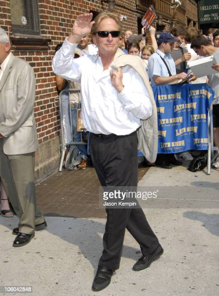 Michael Douglas during Michael Douglas Arrives at 'The Late Show with David Letterman' July 10 2006 at The Ed Sullivan Theater in New York City New...