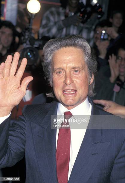 Michael Douglas during 'The American President' New York City Premiere at New York Hilton Hotel in New York City New York United States