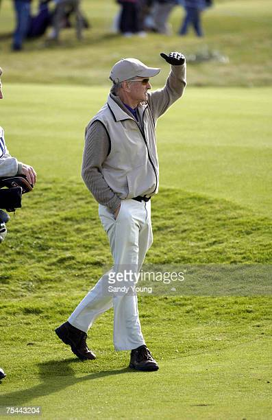 Michael Douglas during the First Round of the 2005 Dunhill Cup at Carnoustie on September 29 2005