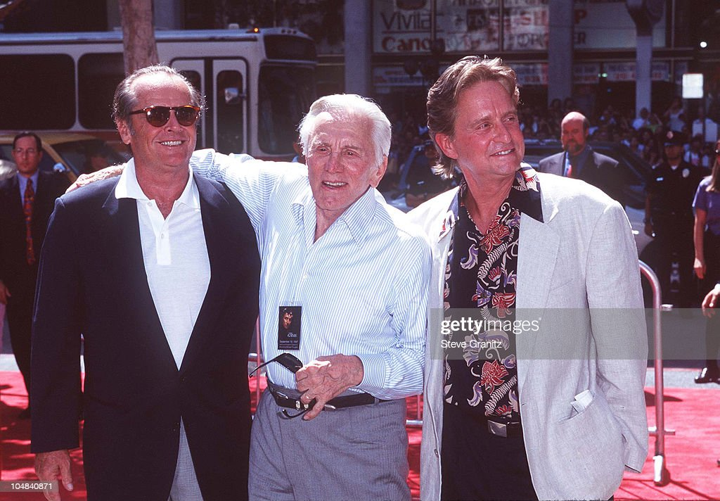 Kirk Douglas And Michael Douglas