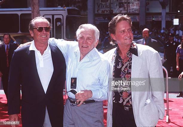 Michael Douglas Father Kirk Douglas Jack Nicholson
