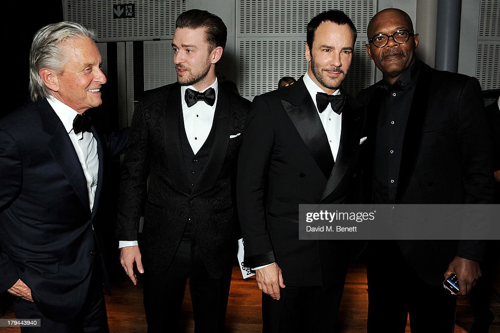 Michael Douglas, Justin Timberlake, Tom Ford and Samuel L. Jackson attend the GQ Men of the Year awards at The Royal Opera House on September 3, 2013 in London, England.