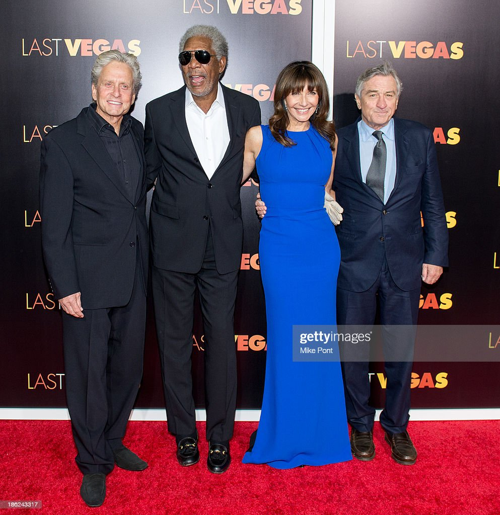 <a gi-track='captionPersonalityLinkClicked' href=/galleries/search?phrase=Michael+Douglas&family=editorial&specificpeople=171111 ng-click='$event.stopPropagation()'>Michael Douglas</a>, <a gi-track='captionPersonalityLinkClicked' href=/galleries/search?phrase=Morgan+Freeman&family=editorial&specificpeople=169833 ng-click='$event.stopPropagation()'>Morgan Freeman</a>, <a gi-track='captionPersonalityLinkClicked' href=/galleries/search?phrase=Mary+Steenburgen&family=editorial&specificpeople=209210 ng-click='$event.stopPropagation()'>Mary Steenburgen</a>, and <a gi-track='captionPersonalityLinkClicked' href=/galleries/search?phrase=Robert+De+Niro&family=editorial&specificpeople=201673 ng-click='$event.stopPropagation()'>Robert De Niro</a> attend the 'Last Vegas' premiere at the Ziegfeld Theater on October 29, 2013 in New York City.