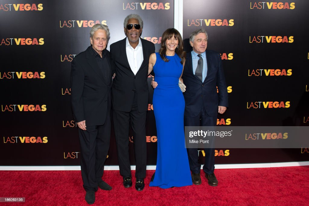 <a gi-track='captionPersonalityLinkClicked' href=/galleries/search?phrase=Michael+Douglas&family=editorial&specificpeople=171111 ng-click='$event.stopPropagation()'>Michael Douglas</a>, <a gi-track='captionPersonalityLinkClicked' href=/galleries/search?phrase=Morgan+Freeman&family=editorial&specificpeople=169833 ng-click='$event.stopPropagation()'>Morgan Freeman</a>, <a gi-track='captionPersonalityLinkClicked' href=/galleries/search?phrase=Mary+Steenburgen&family=editorial&specificpeople=209210 ng-click='$event.stopPropagation()'>Mary Steenburgen</a> and <a gi-track='captionPersonalityLinkClicked' href=/galleries/search?phrase=Robert+De+Niro&family=editorial&specificpeople=201673 ng-click='$event.stopPropagation()'>Robert De Niro</a> attend the 'Last Vegas' premiere at the Ziegfeld Theater on October 29, 2013 in New York City.