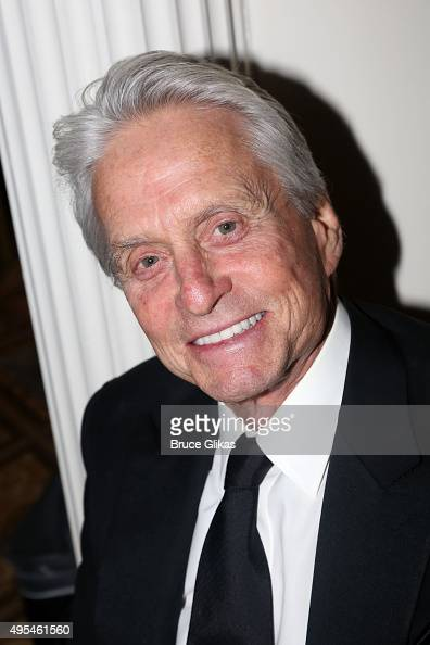 Michael Douglas poses at The Drama League honors Bernadette Peters at it's 2015 Centennial Celebration at The Plaza on November 2 2015 in New York...
