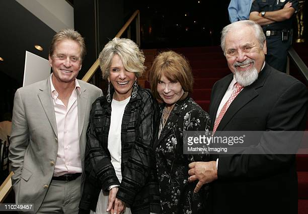 Michael Douglas Sheila Nevins President of Documentary Programming at HBO Lee Grant and George Schlatter