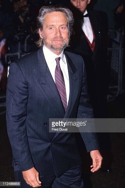 Michael Douglas with a beard during American President premiere at Leicester Square in London United Kingdom
