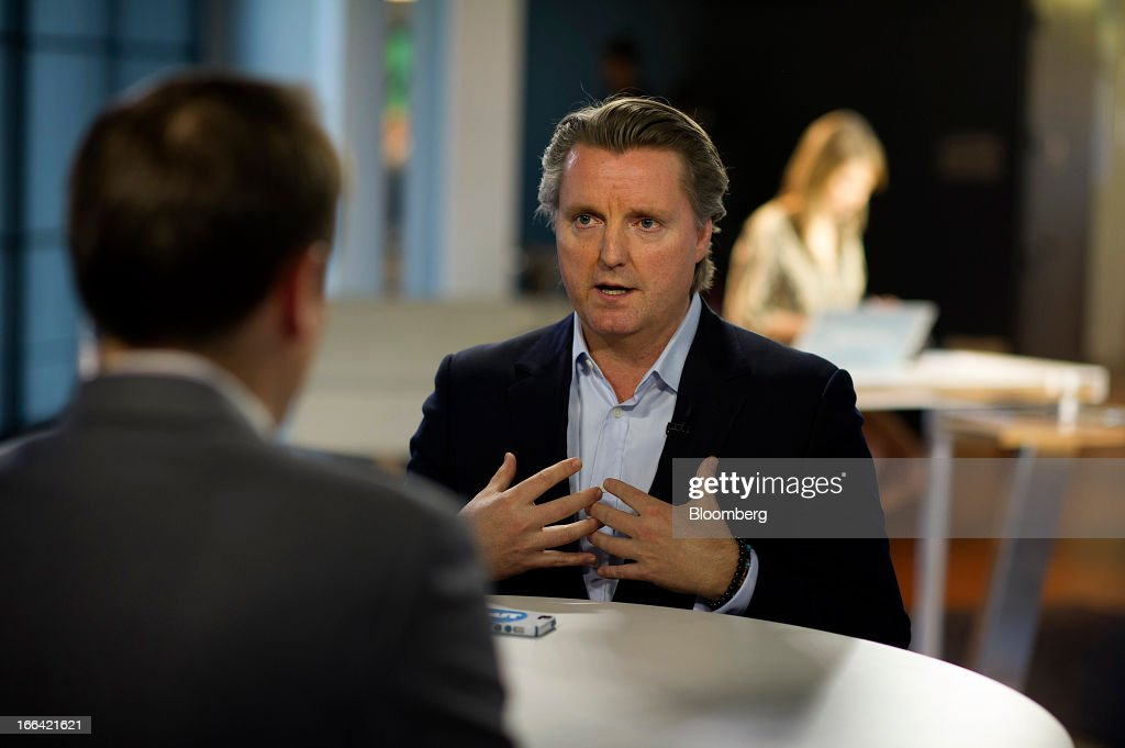 Michael Downing, chief executive officer of Tout.com, speaks during a Bloomberg West Television interview in San Francisco, California, U.S., on Thursday, April 11, 2013. Tout is a real-time information network for up-to-the-minute video updates across news, sports, politics, entertainment. Photographer: David Paul Morris/Bloomberg via Getty Images