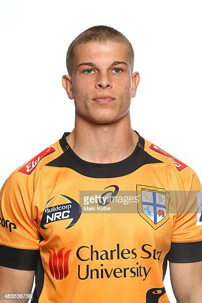 Michael Dowsett poses during the NSW Country Eagles Headshots Session at the NSW Rugby Union Offices on August 10 2015 in Sydney Australia