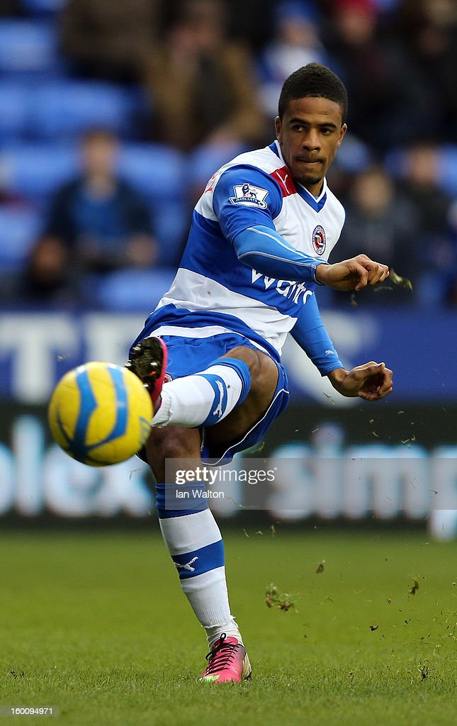 Michael Doyle of Reading scores the 4th goal during the FA Cup Fourth Round match between Reading v Sheffield United at Madejski Stadium on January 26, 2013 in Reading, England.