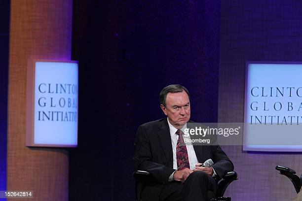 Michael Duke president and chief executive officer of WalMart Stores Inc listens during the Clinton Global Initiative in New York US on Sunday Sept...