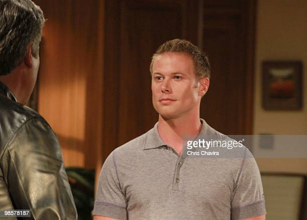 CHILDREN Michael E Knight and Jacob Young in a scene that airs the week of April 26 2010 on ABC Daytime's 'All My Children' 'All My Children' airs...