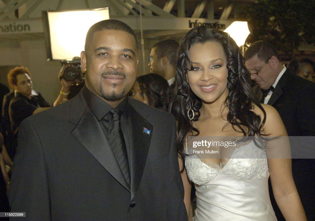 Michael E. Misick and LisaRaye McCoy during 2006 Trumpet Awards - Arrivals at Georgia World Congress Center in Atlanta, Georgia, United States.