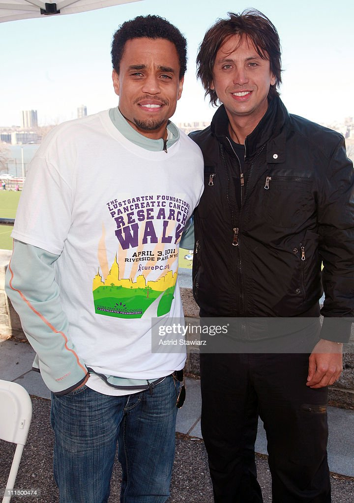 <a gi-track='captionPersonalityLinkClicked' href=/galleries/search?phrase=Michael+Ealy&family=editorial&specificpeople=227370 ng-click='$event.stopPropagation()'>Michael Ealy</a> and <a gi-track='captionPersonalityLinkClicked' href=/galleries/search?phrase=Jonathan+Cheban&family=editorial&specificpeople=538047 ng-click='$event.stopPropagation()'>Jonathan Cheban</a> lead the 2011 Lustgarten Foundation's NY Pancreatic Cancer Research Walk at Riverside Park on April 3, 2011 in New York City.
