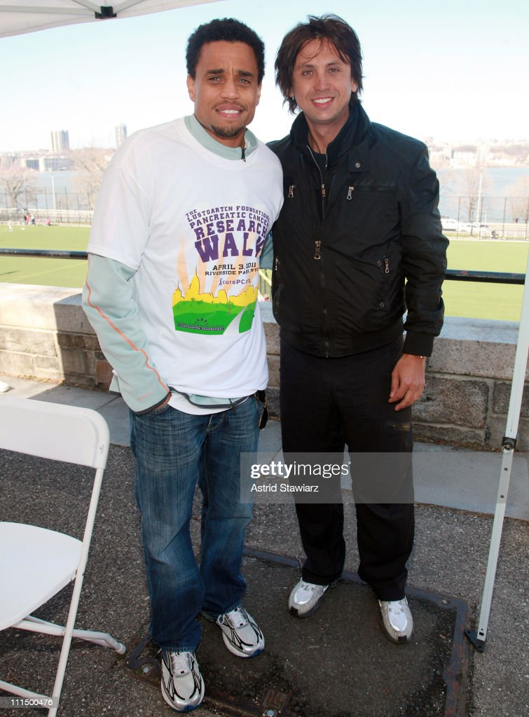 Michael Ealy and Jonathan Cheban lead the 2011 Lustgarten Foundation's NY Pancreatic Cancer Research Walk at Riverside Park on April 3, 2011 in New York City.