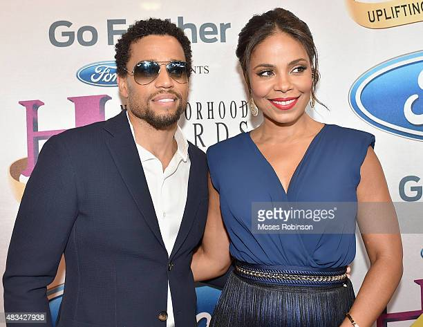 Michael Ealy and Sanaa Lathan attend the 2015 Ford Neighborhood Awards Hosted By Steve Harvey at Phillips Arena on August 8 2015 in Atlanta Georgia