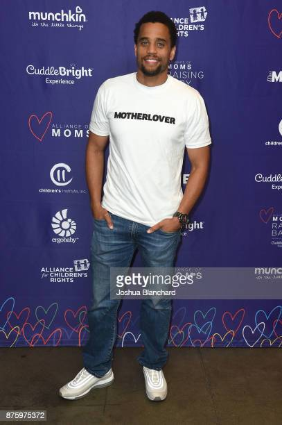 Michael Ealy attends the Alliance of Moms Raising Baby presented by CuddleBright on November 18 2017 in Los Angeles California