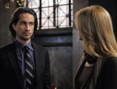 LIVE Michael Easton and Susan Haskell in a scene that airs the week of May 3 2010 on ABC Daytime's 'One Life to Live' 'One Life to Live' airs...