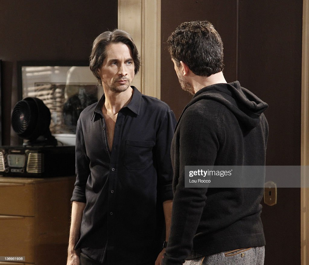 LIVE - Michael Easton (John) and Ted King (Tomas) in a scene that airs the week of January 9, 2012 on ABC Daytime's 'One Life to Live.' 'One Life to Live' airs Monday-Friday (2:00 p.m. - 3:00 p.m., ET) on the ABC Television Network. KING