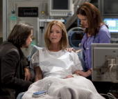 LIVE Michael Easton Susan Haskell and extra in a scene that airs the week of April 19 2010 on ABC Daytime's 'One Life to Live' 'One Life to Live'...