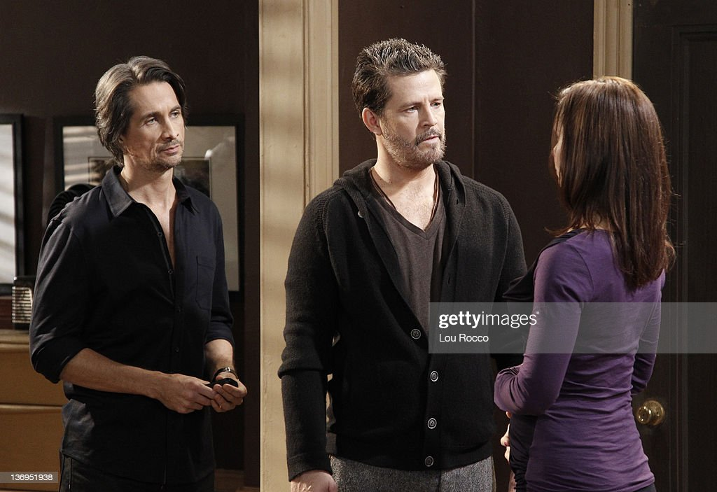 LIVE - Michael Easton (John), Ted King (Tomas) and Florencia Lozano (Tea) in a scene that airs the week of January 9, 2012 on ABC Daytime's 'One Life to Live.' 'One Life to Live' airs Monday-Friday (2:00 p.m. - 3:00 p.m., ET) on the ABC Television Network. MICHAEL